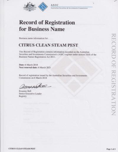 Citrus SCP Registration