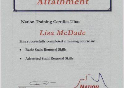 Mcdade Cert 3 Stains