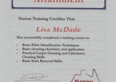 Mcdade Cert 3 Steam cleaning