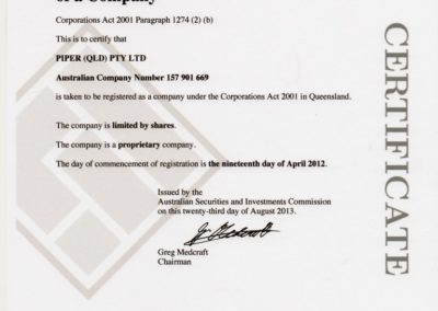 Piper Qld Company Registration