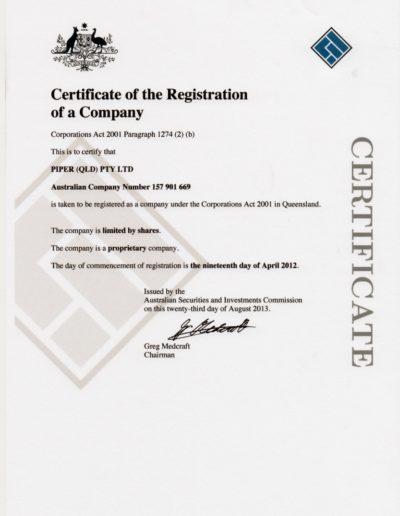 Piper Qld Company Registration